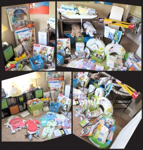 All the gifts from the various baby showers. Thanks Everyone!