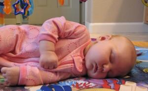 Frances taking a nap.
