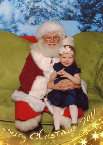 Frances with Santa