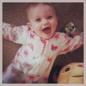 Eloise being happy